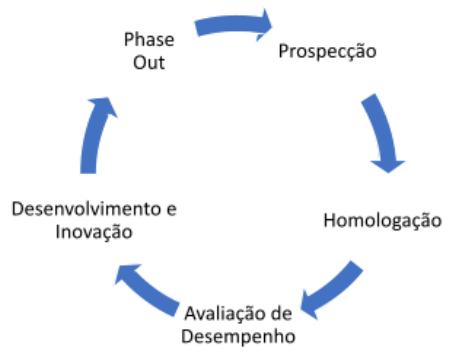 ciclo de vida do fornecedor com foco na avaliação de desempenho de fornecedores